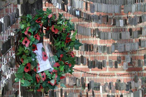 memorial garden unmarked dogtag war memorial
