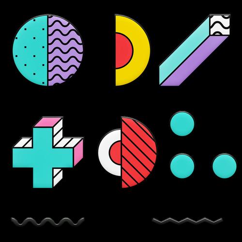memphis shapes  80's design  eighties