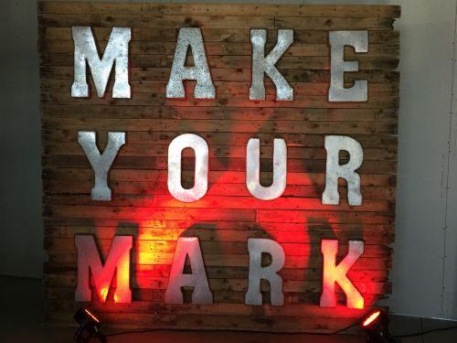 men make your mark mark