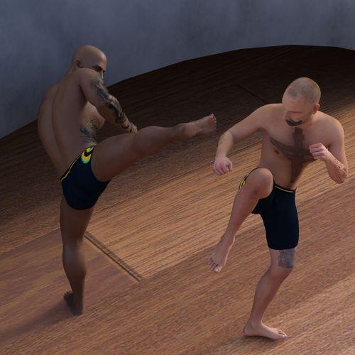men martial arts defense