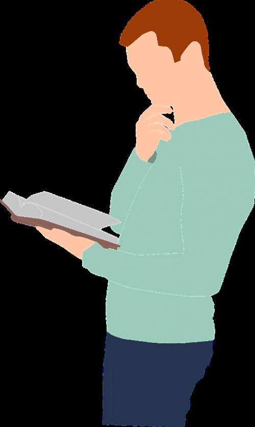 men holding reading