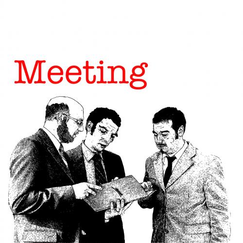 men meeting encounter