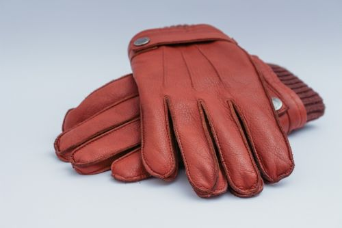 mens leather gloves brown apparel
