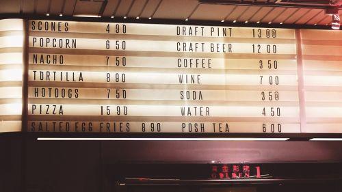 menu cinema singapore