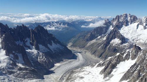 mer de glace glacier aiguille verte