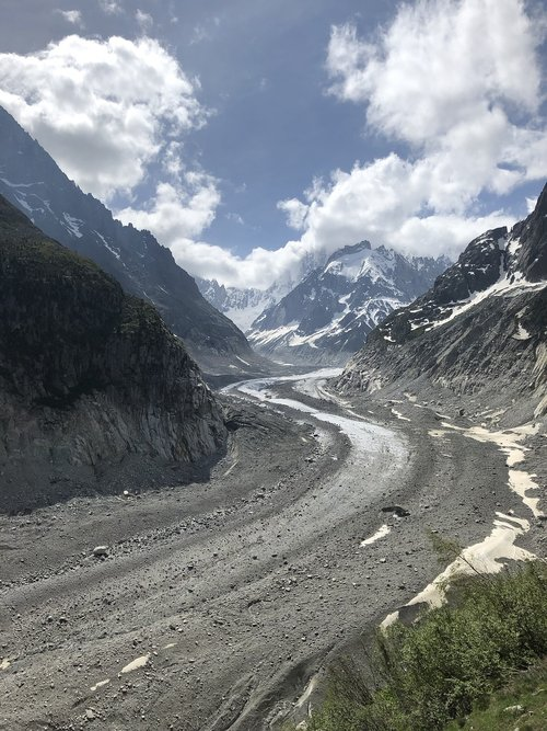 mer de glace  glacier  alps
