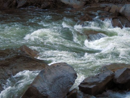 Merced River Flowing