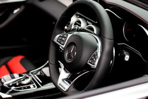 mercedes c63 steering wheel car