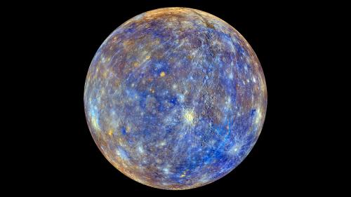mercury planet color enhanced