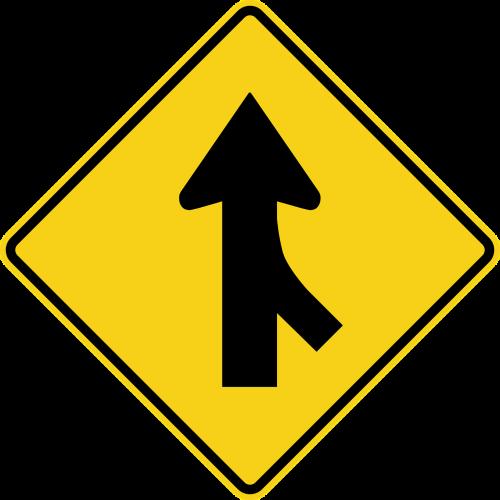 merging traffic signs