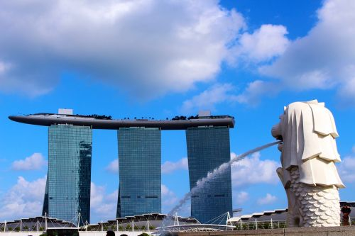 merlion marina bay sands hotel singapore