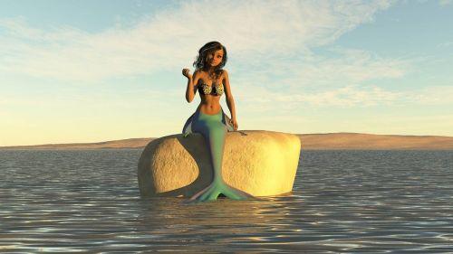 mermaid water sea