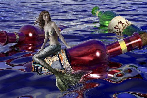 mermaid water water creature