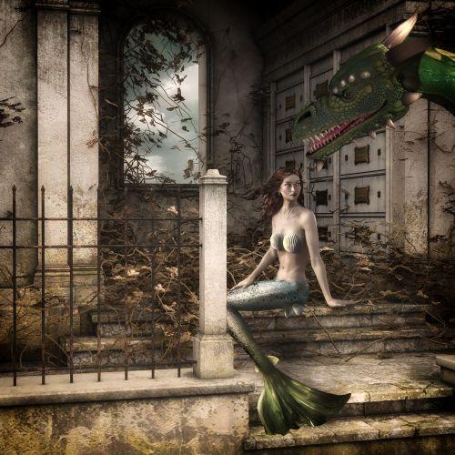 mermaid dragon fairy tales