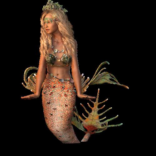 mermaid water creature creature