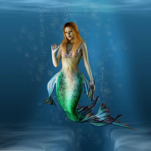 mermaid water creature water