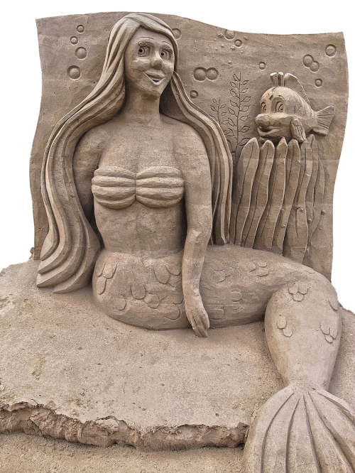mermaid,sand figure,sculpture,sand,figure,metal,fairy tale,woman,female,beauty,artwork,art,sand art,sand-portrait,modern,eye catcher,isolated