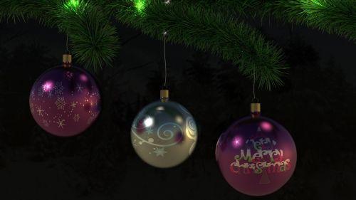 merry christmas christbaumkugeln tannenzweig