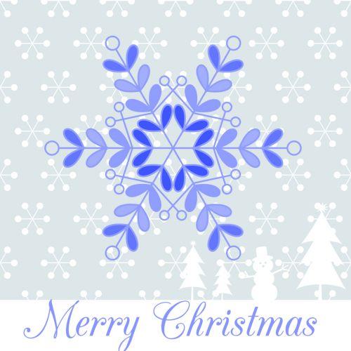 Merry Christmas Snowflakes