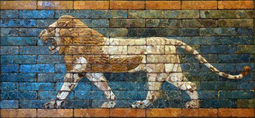 mesopotamian lion babylon