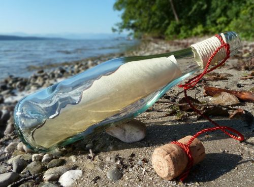 message in a bottle post bottle