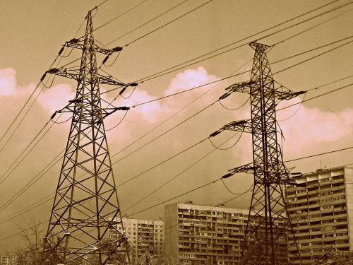 metal poles electric poles