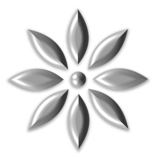 metal steel flower