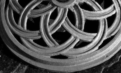 metal pattern grey