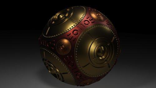 metal  ball  glossy