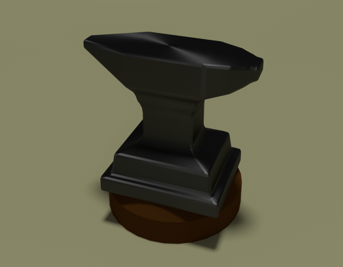 metal anvil 3d
