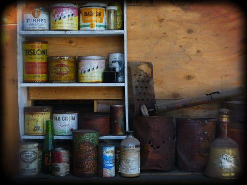 metal cans grocery holga