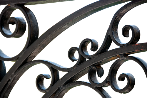 metal fence wrought iron iron gate