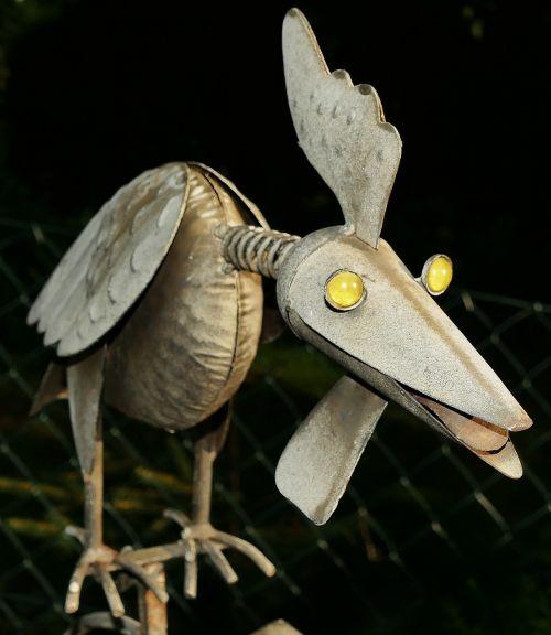 metal figure bird garden decoration