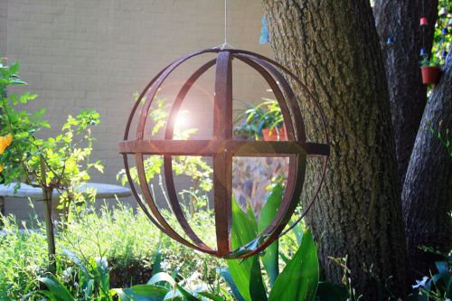 Metal Sphere With Lens Flare
