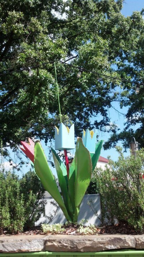 Metal Tulip Flower