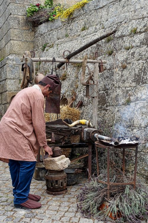 metal worker historical vintage