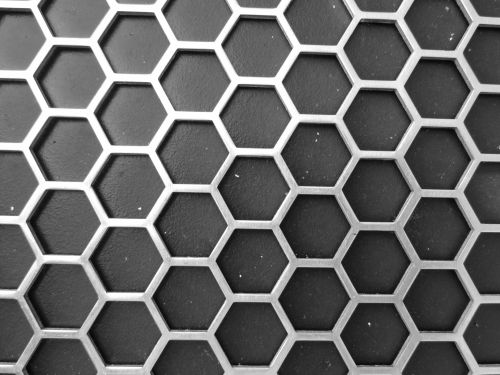 Metallic Honeycomb Pattern