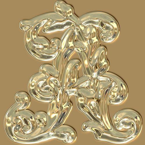 Metallic Letter A
