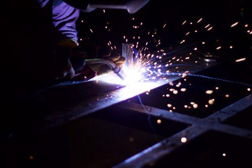 metalworking iron sparks