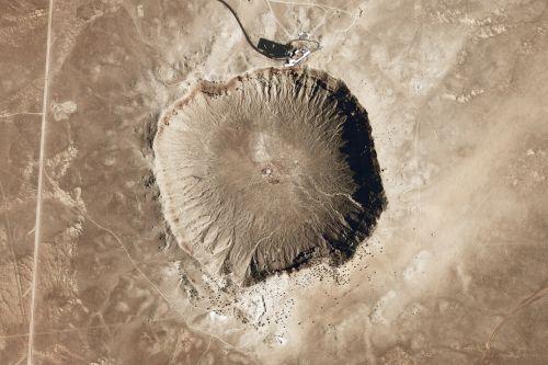 meteor crater meteorite impact