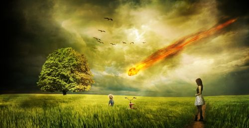 meteorite impact comet