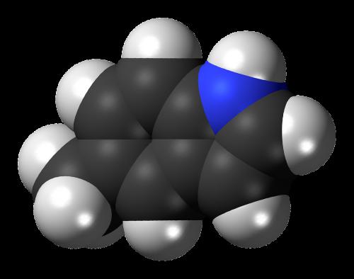 methylindole molecule model