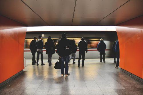 metro people public transportation