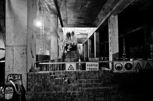 metro construction platform outlet