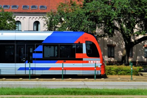 metro train houston texas rail car