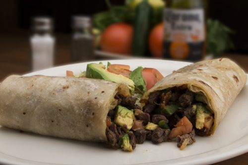 mexican food burritos meat