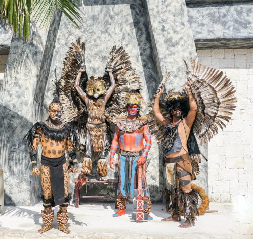 mexico warriors posing