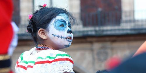 mexico child dia de muertos