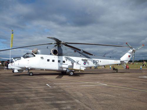 mi-24 hind gunship helicopter