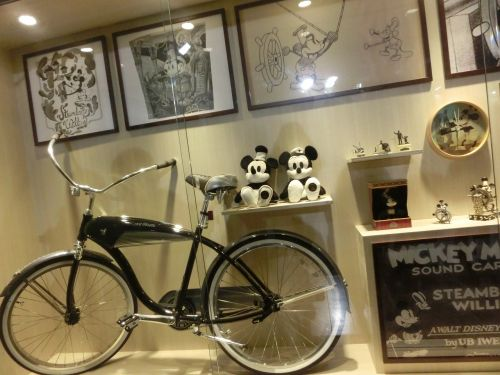 mickey exhibition bicycle